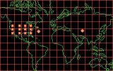 S.D.I. DOS World map (Note swarm of fighters)