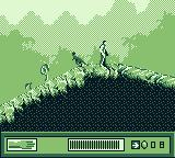 The Lost World: Jurassic Park Game Boy Fighting a dino.