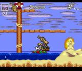 Rocko's Modern Life: Spunky's Dangerous Day SNES Riding a rubber raft