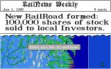 Sid Meier's Railroad Tycoon Amiga New Railroad corporation founded