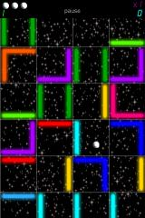 Neonscape iPhone Each one of these neon tiles can be moved to any position on the grid.