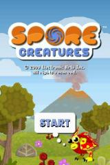 Spore Creatures Nintendo DS Title Screen