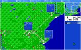 Sid Meier's Railroad Tycoon Amiga Map zoomed out (notice more detailed station information)