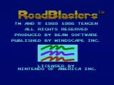 RoadBlasters NES Title screen