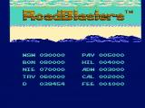 RoadBlasters NES The high score screen