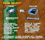 Madden NFL 97 SNES Team select screen