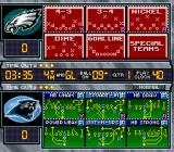 Madden NFL 97 SNES Play select screen