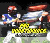 Pro Quarterback Genesis Title screen
