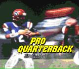 Pro Quarterback SNES Title screen