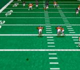 Pro Quarterback SNES The ball is in midair.