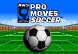 AWS Pro Moves Soccer Genesis Title screen
