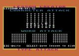 Type Attack Atari 8-bit Use the editor to create your own Type Attack lessons