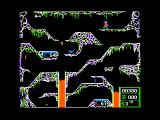 Crisis Mountain Apple II The gameplay screen
