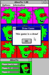 AlienTic Windows 3.x Aww man, a draw!