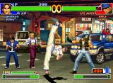 "The King of Fighters '98: The Slugfest Neo Geo CD This time, Kim Kaphwan uses one of his most-stylish kicks... against a ""non-reaction"" Clark Still..."