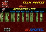 College Football USA 96 Genesis Team roster