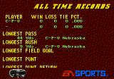 College Football USA 96 Genesis All time records