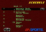 College Football USA 96 Genesis Schedule