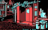 Shufflepuck Cafe DOS Title screen (CGA)