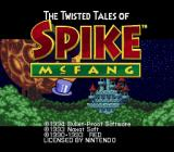 The Twisted Tales of Spike McFang SNES Title screen 1