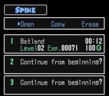 The Twisted Tales of Spike McFang SNES Start a new game or load a saved one.