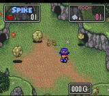 The Twisted Tales of Spike McFang SNES Spinning too much can make Spike dizzy.