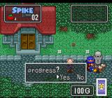 The Twisted Tales of Spike McFang SNES Saving a game.