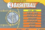 Backyard Basketball Game Boy Advance Main menu