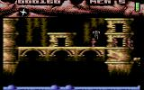 Ninja Commando Commodore 64 Jumping on an enemy