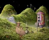 Samorost Browser Intro: Making a touch-down on the strange new planetoid
