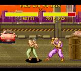 Power Instinct SNES The opponent won't strike back in the practice 1 mode.