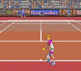 David Crane's Amazing Tennis Genesis Playing left handed on a clay court