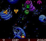 Galaga: Destination Earth Game Boy Color Yellow means they have been damaged, only one hit will be needed to destroy.