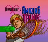 David Crane's Amazing Tennis SNES Title screen (US version)