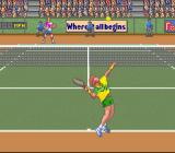 David Crane's Amazing Tennis SNES My opponent is serving.