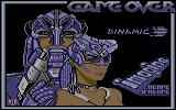 Game Over Commodore 64 Title screen (English version)