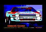 Carlos Sainz Amstrad CPC Title screen