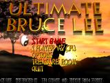 Ultimate Bruce Lee Windows Main menu