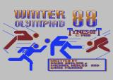 Winter Challenge: World Class Competition Atari 8-bit Title screen (International version)