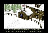 Winter Challenge: World Class Competition Commodore 64 Starting the slalom