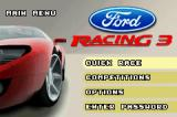 Ford Racing 3 Game Boy Advance Main menu