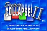 Super Collapse! II Game Boy Advance Title screen