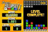 Super Collapse! II Game Boy Advance Level complete