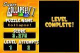 Super Collapse! II Game Boy Advance Level complete! I cleared the screen.