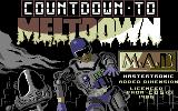 Countdown to Shutdown Commodore 64 Title screen (European version)
