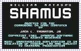 Shamus Commodore 64 Title screen and credits