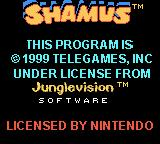 Shamus Game Boy Color Title screen