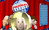 The Political Machine 2008 Windows Main Menu