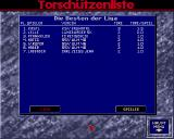 Bundesliga Manager Professional Amiga Top scores board of 3rd division