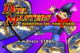 Duel Masters: Shadow of the Code Game Boy Advance Title screen